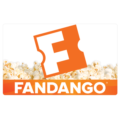 FANDANGO<sup>&reg;</sup> $25 Gift Card - Fandango® makes it easy to find and buy the right movie tickets at the right time.  Show times and tickets can be purchased for more than 23,000 screens at participating theatres nationwide. Fandango tickets can be purchased online or using the mobile app.